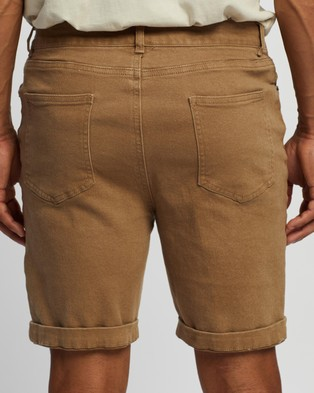 Staple Superior Organic Organic Cotton Five Pocket Shorts - Chino Shorts (Sand)