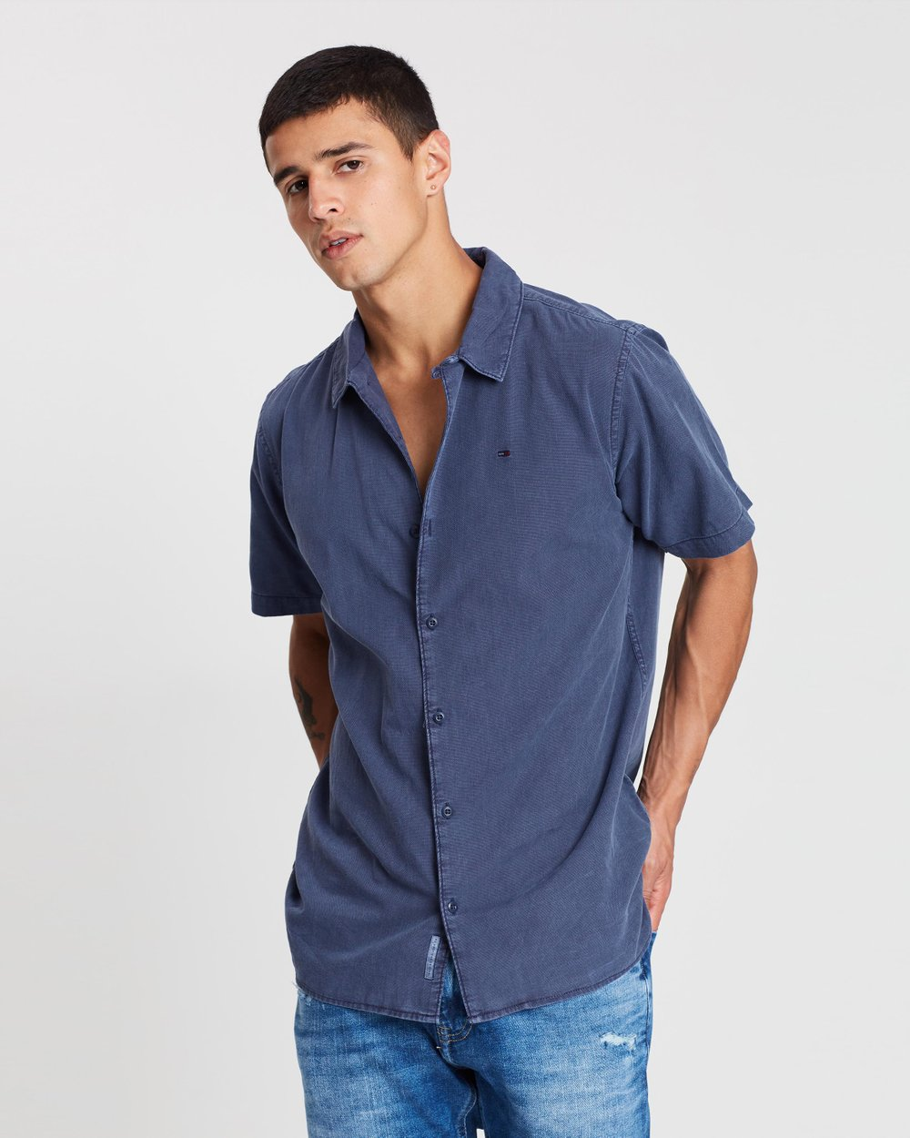 fbbd458a64d8 Summer Pique Camp Shirt by Tommy Jeans Online