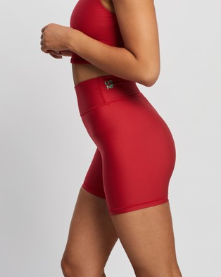 The Upside NF Spin Mini Shorts - 1/2 Tights (Red)