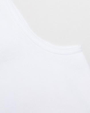 Staple Superior 6 Pack No Show Socks - No Show Socks (White)