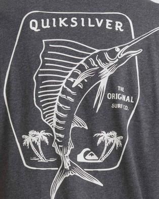 Quiksilver Mens Waterman Classic Sword T Shirt - T-Shirts & Singlets (Charcoal Heather)
