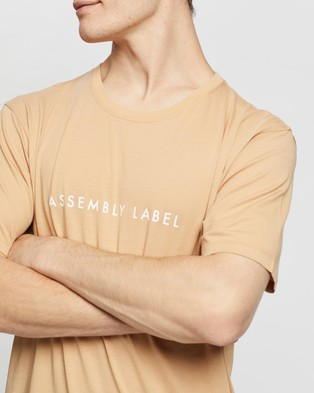 Assembly Label Logo Tee - T-Shirts & Singlets (Taupe & White)