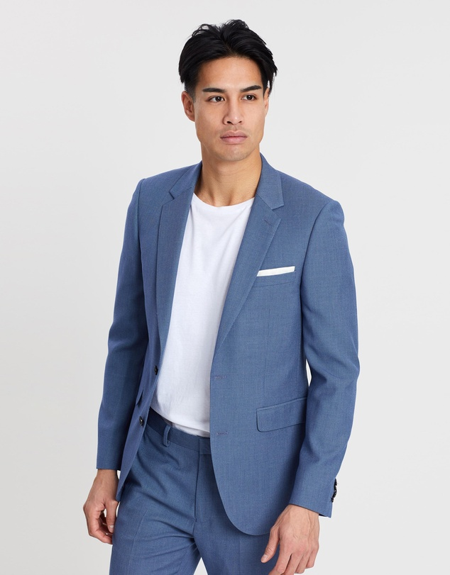Burton Menswear - Birdseye Textured Slim Fit Suit Jacket
