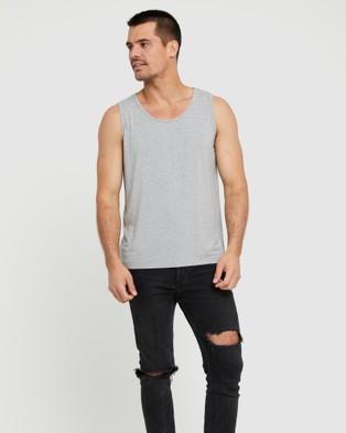 Bamboo Body Bamboo Singlet - T-Shirts & Singlets (Light Grey Marle)