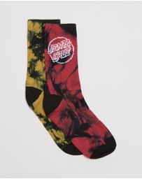 Santa Cruz - 2-Pack Dye Dot Socks - Teens