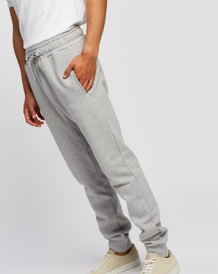 AERE Organic Cotton Joggers - Sweatpants (Grey Melange)
