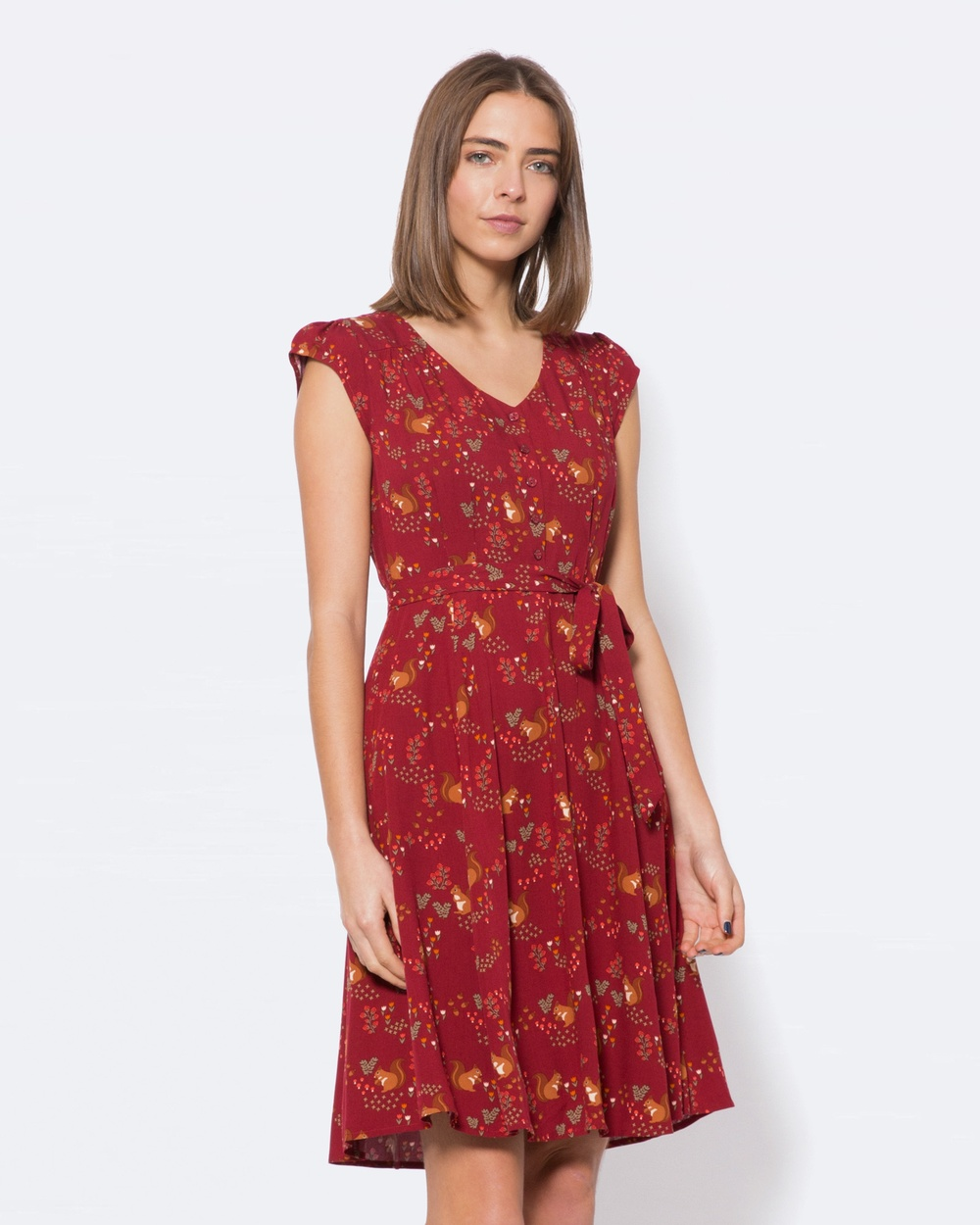 Princess Highway Squirrel Away Dress Dresses Red Squirrel Away Dress