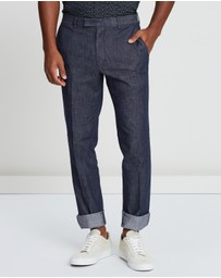 REISS - Patrick Slim Fit Chambray Formal Trousers