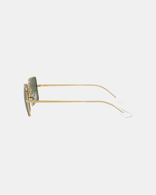 RaBan - Rectangle 1969 Legend Gold RB1969 - Sunglasses (Gold & Green Classic G-15)