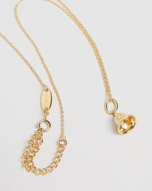 My Little Silver Twinkle Bell Pendant & Necklace   Kids - Jewellery (Yellow Gold Vermeil)
