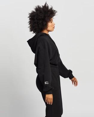 Factorie - Athluxe Slouchy Cropped Hoodie Hoodies (Black)