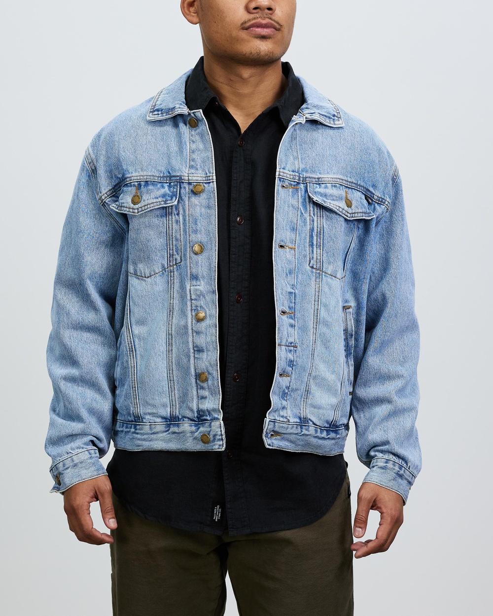 Thrills Oversized Wanderer Denim Jacket jacket Aged Blue Australia