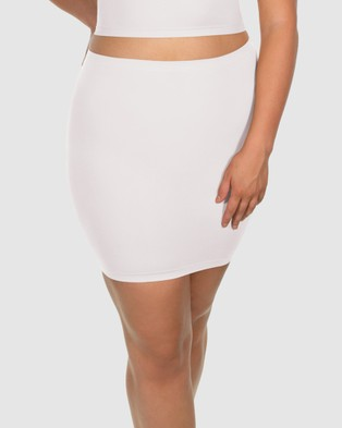 B Free Intimate Apparel Strapless Tube Top Skirt - Lingerie (White)