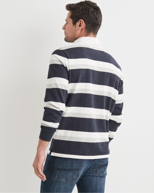 Blazer Garrett Stripe Rugby Top - Jumpers & Cardigans (Navy)