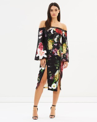 Mossman – She Walks In Roses Off the Shoulder Dress Floral