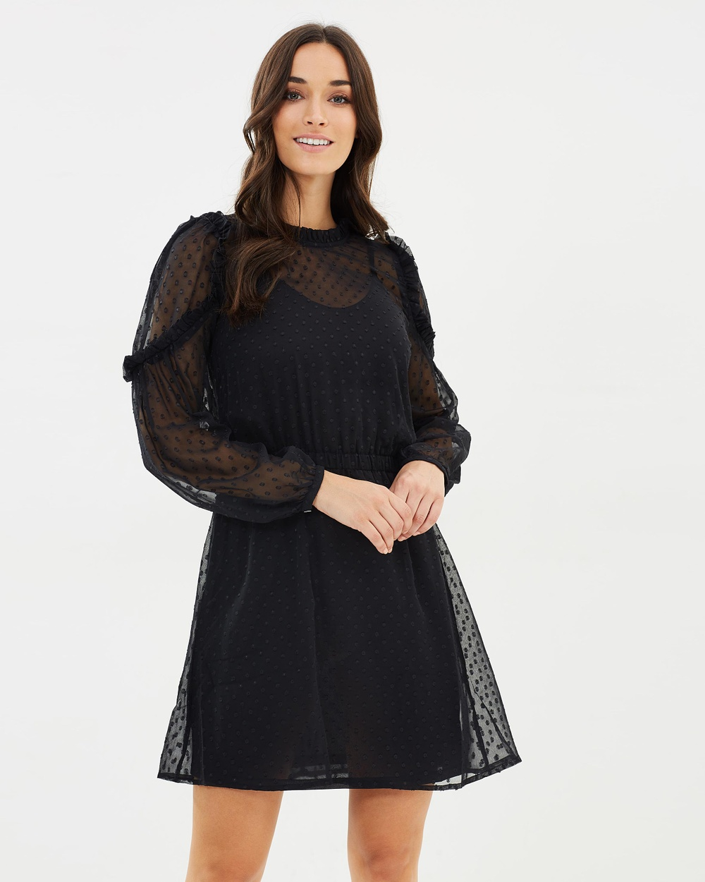 Vero Moda Amanda Long Sleeve Dress Dresses Black Amanda Long Sleeve Dress