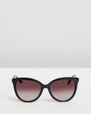 Oroton Iris - Sunglasses (Black & Warm Smoke Gradient)