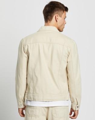 AERE Organic Twill Trucker Jacket - Coats & Jackets (Ecru)