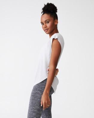 Cotton On Body Active - Active Scoop Hem T Shirt - Short Sleeve T-Shirts (Grey Marle) Active Scoop Hem T-Shirt