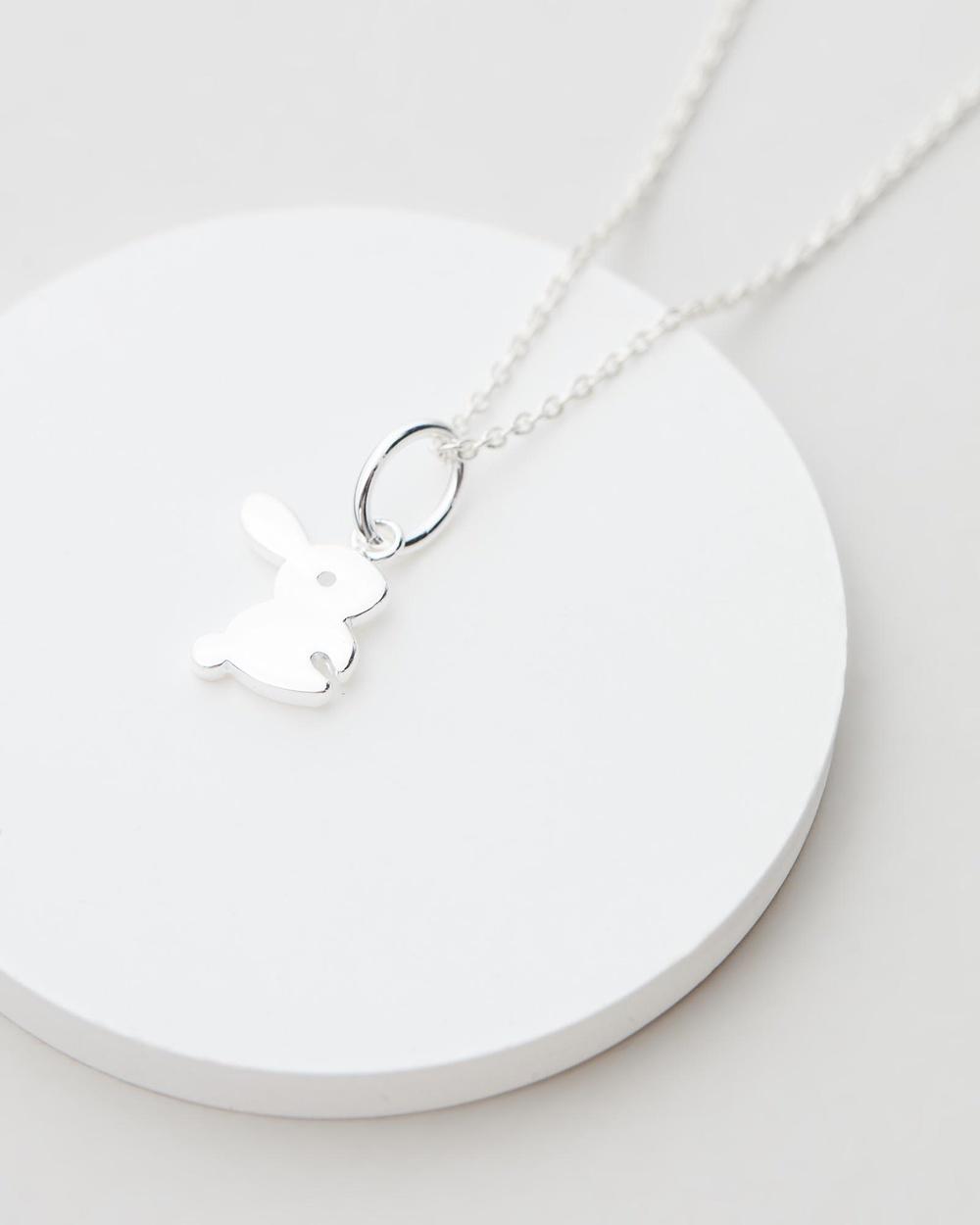My Little Silver Fluffy Bunny Pendant & Necklace Kids Jewellery Sterling Silver