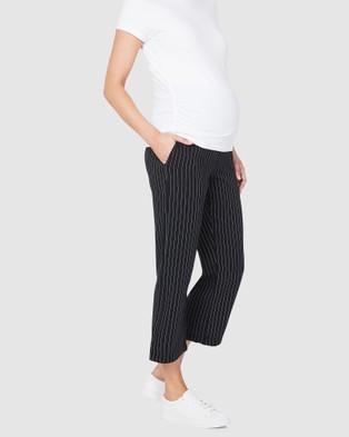 Soon Maternity Classic Crop Maternity Pant - Pants (NAVY)