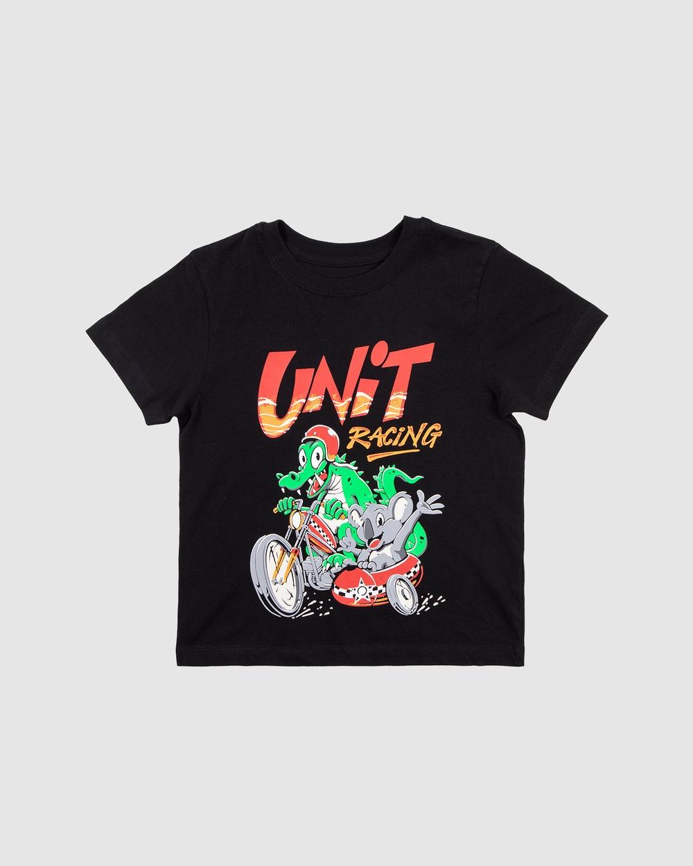 UNIT Dual Racer T-Shirts & Singlets BLACK