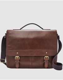 Fossil - Miles Dark Brown Messenger Bag