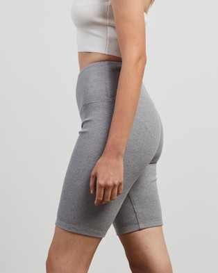 Elka Collective Racer Ribbed Shorts - Shorts (Grey Marle)