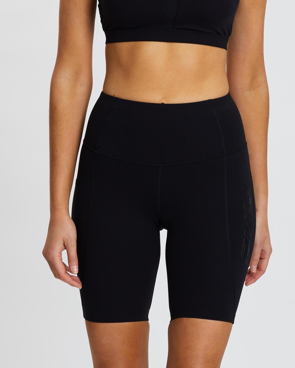 2XU Fitness New Heights Bike Shorts all compression Black & Black