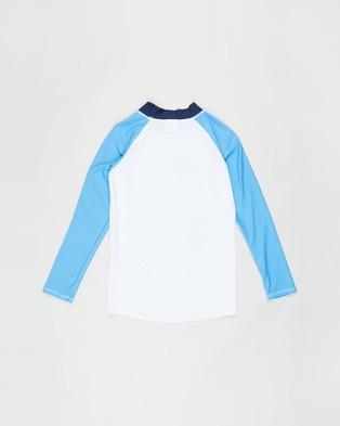Cotton On Kids - Flynn Long Sleeve Raglan Rash Vest Swimwear (California Dream & White)