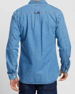 Tommy Jeans Denim Shirt - Casual shirts (Mid Indigo)