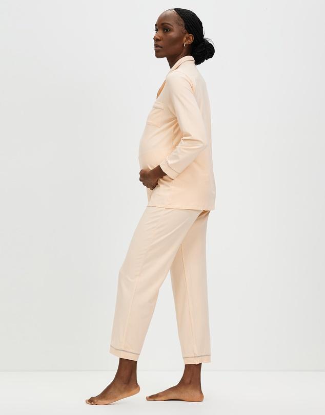Women Maternity and Nursing Long Sleeve Pyjama Set