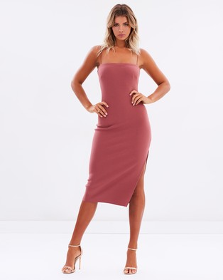 Bec & Bridge – Love Ruler Midi Dress – Bodycon Dresses (Lipstick)