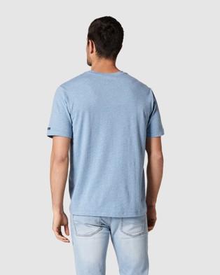 Blazer - Denver Melange Classic Tee - Short Sleeve T-Shirts (Blue) Denver Melange Classic Tee
