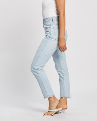Nobody Denim Frankie Ankle Stretch Jeans - Slim (Glimmered)