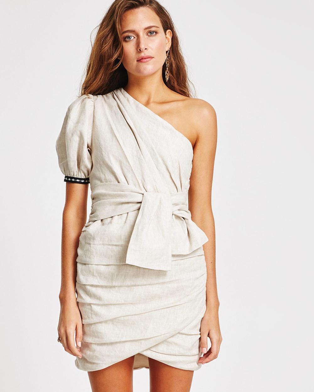 Vestire Natural Rosarito One Shoulder Dress