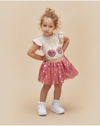Huxbaby - Cherry Tulle Skirt - Kids