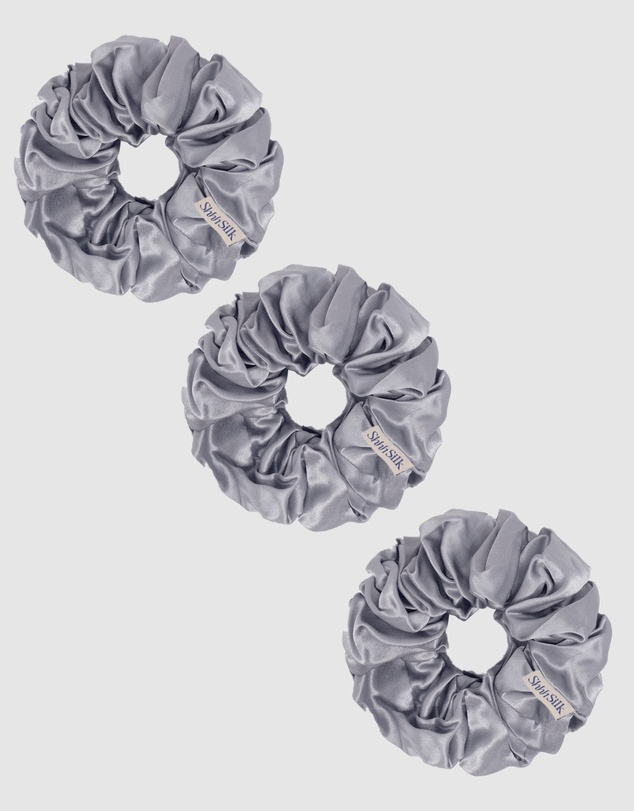Life 3 Pack Extra Large Silk Scrunchies