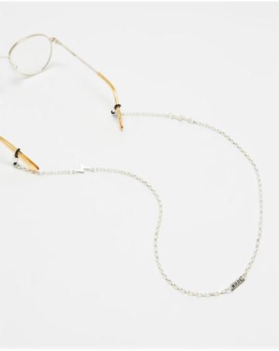 Icon Brand Lightning Bolt Sunglasses Chain Silver