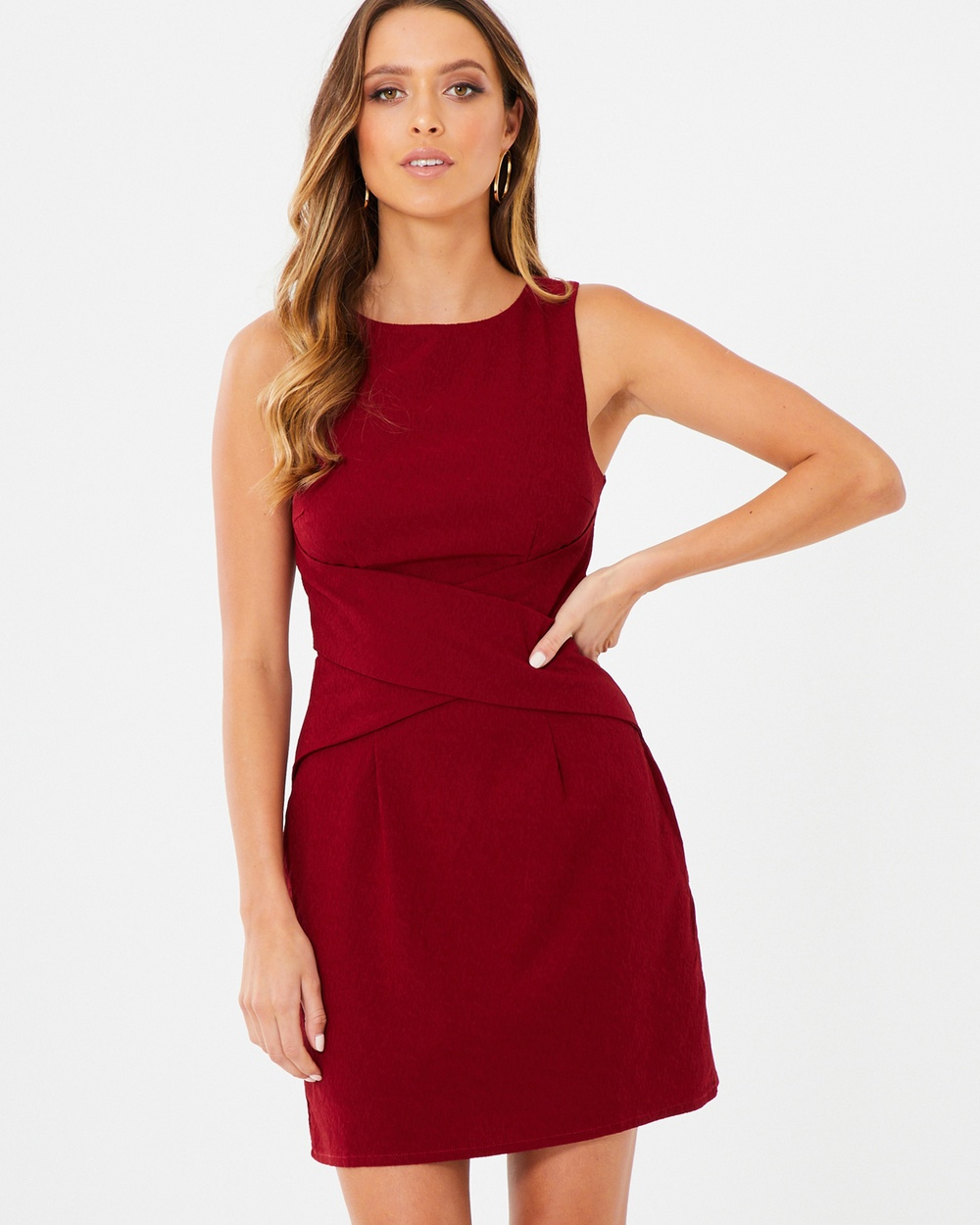Tussah Plum Evelyn Cross Over Dress