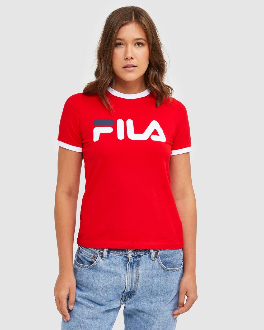 Fila Classic Ringer Tee T-Shirts & Singlets Red Australia