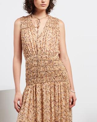 Shona Joy Colette Sleeveless Corded Midi Dress - Dresses (Cream Multi)