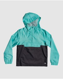 Quiksilver - Boys 8-16 Lazy Left Hooded Half Zip Jacket