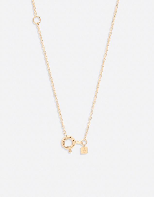 Women 14K Gold Diamond Love Letter L Necklace