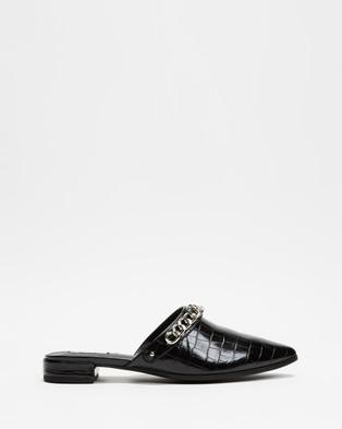 Dazie Jodie Flats - Flats (Black Croc)