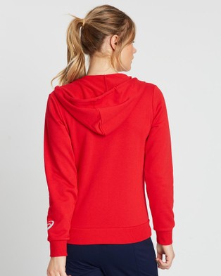 ASICS French Terry Hoodie   Women's - Coats & Jackets (Classic Red)