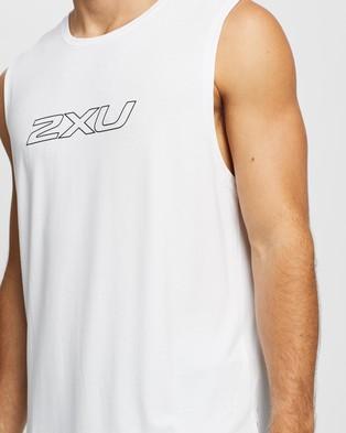 2XU Contender Tank - Muscle Tops (White & Black)