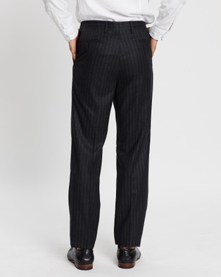 Gieves and Hawkes Chalkstripe Wool Flannel Trousers - Pants (Grey)