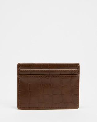PETA AND JAIN Izzy Credit Card Wallet - Wallets (Choc Croc)
