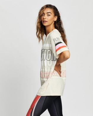 P.E Nation Westbrook Tee - T-Shirts & Singlets (Pearled Ivory)